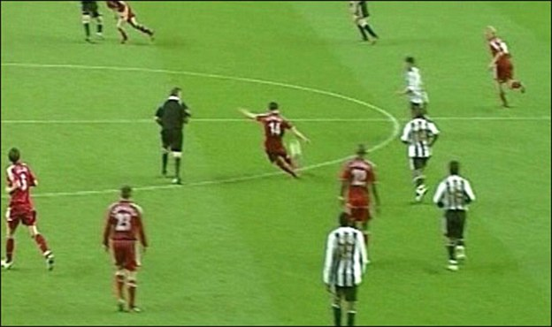 �а��инки по зап�о�� xabi alonso liverpool longest goal