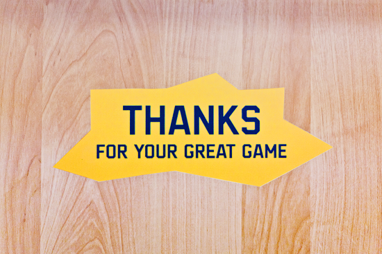 Thanks for your great game