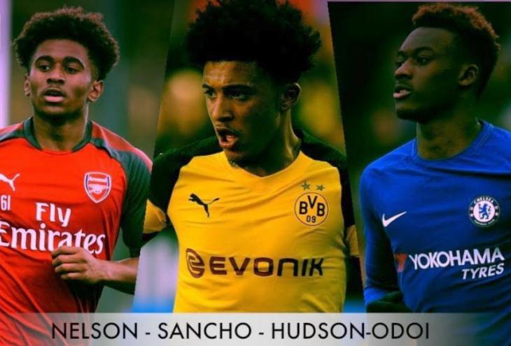 Sancho, Nelson, Hudson-Odoi - young stars of british football