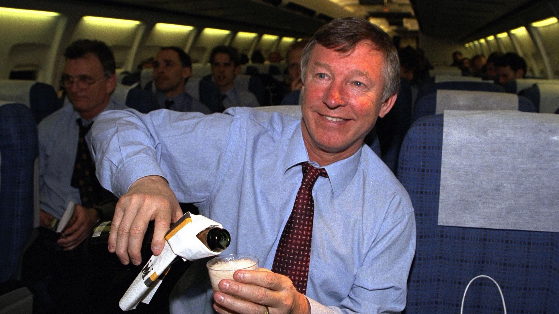 Sir Alex Ferguson celebrates after Manchester United beat Juventus in the semi-finals