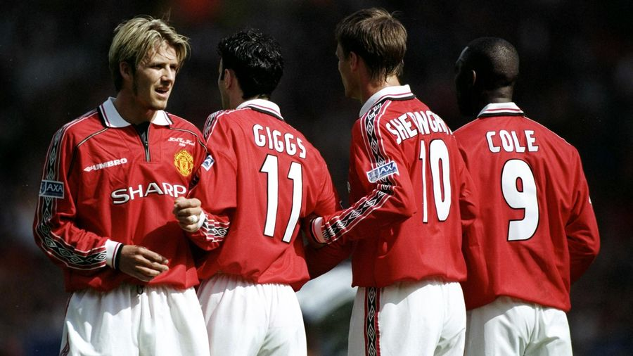 David Beckham and Ryan Giggs in the 1999 FA Cup final